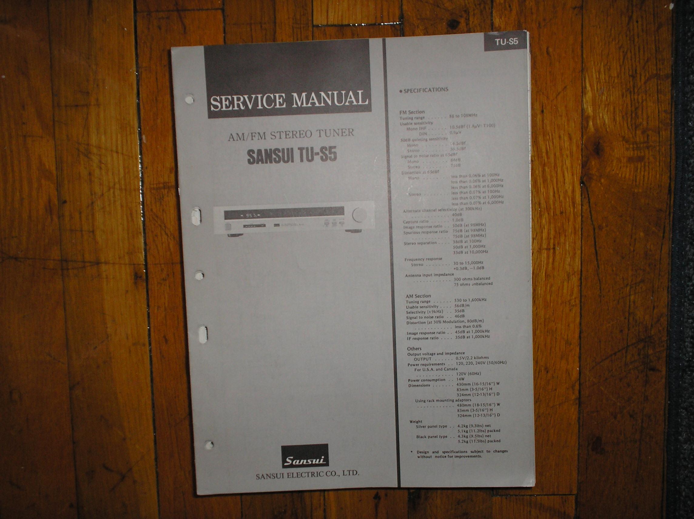 TU-S5 Tuner Service Manual