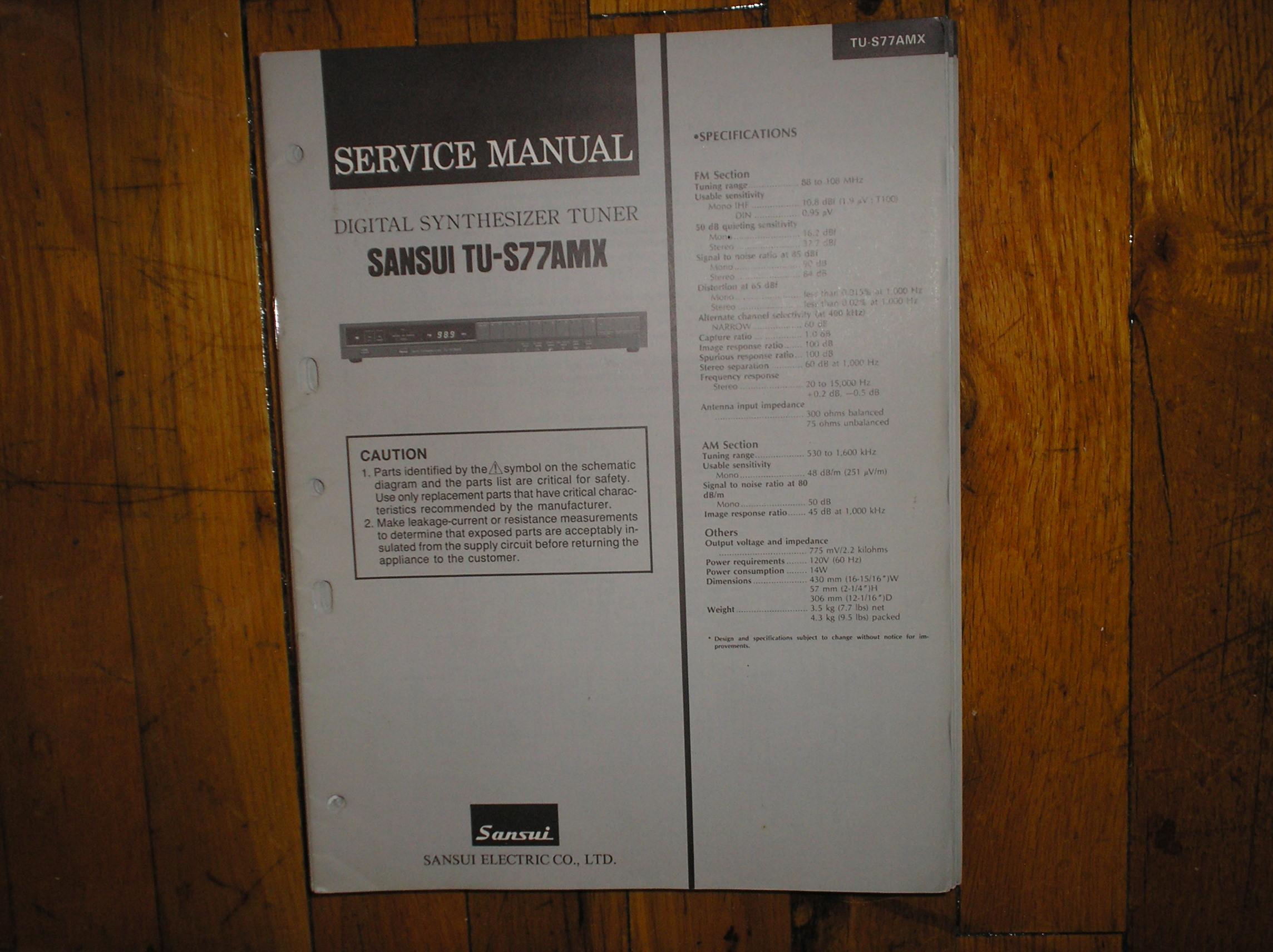 TU-S77AMX Tuner Service Manual