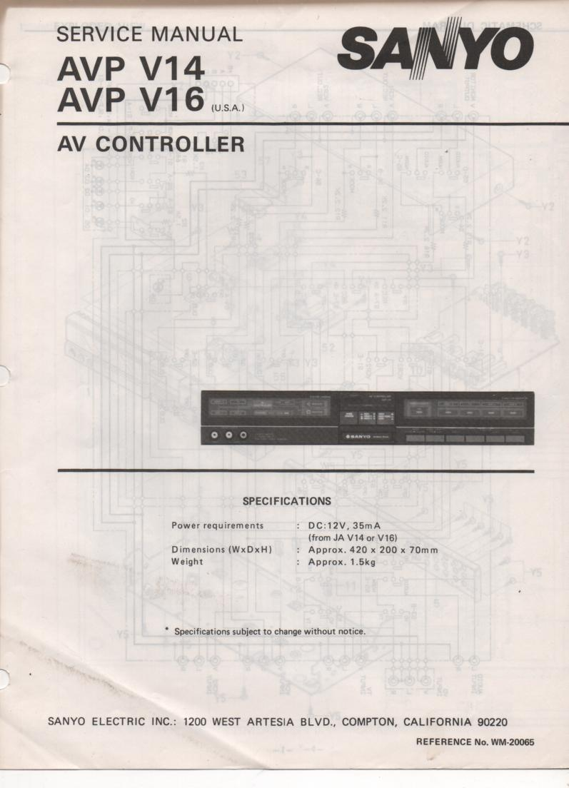 AVP V14 AVP V16 Audio Video Controller Service Manual