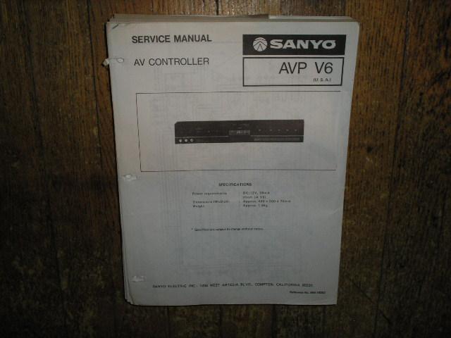 AVP-V6 AV Controller Service Manual