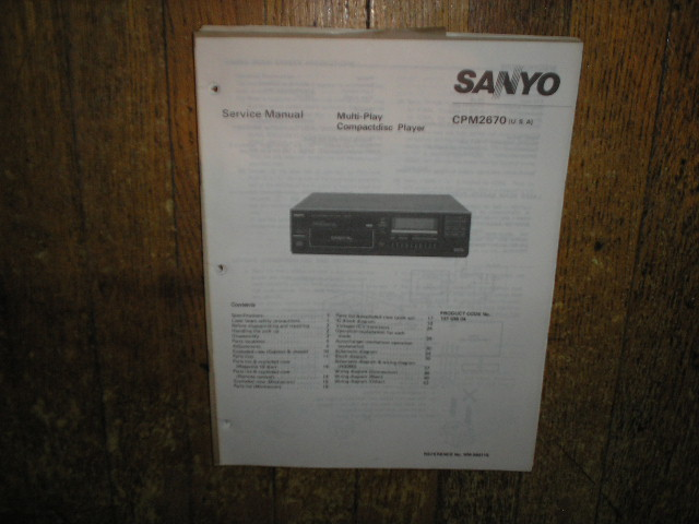 CPM2670 CD Player Service Manual