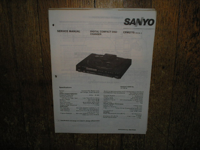 CPM2770 CD Player Service Manual