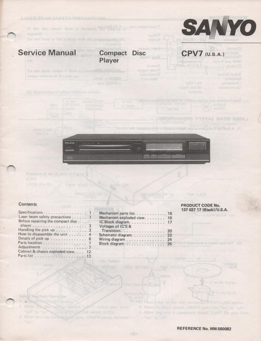 CP V7 CD Player Service Manual