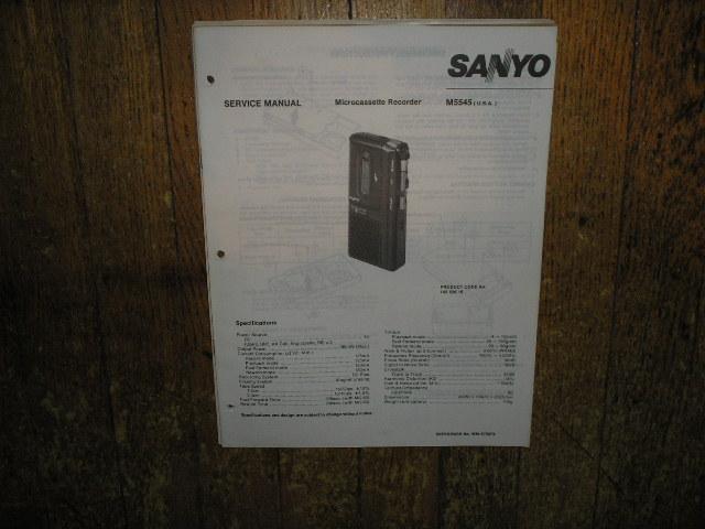 M5545 Micro-Cassette Recorder Service Manual