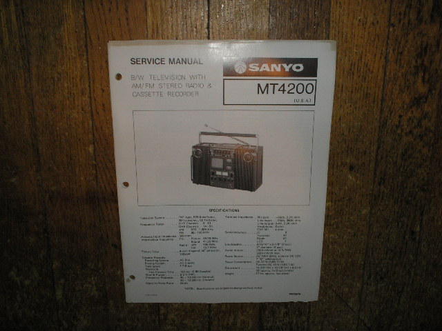 MT4200 TV Radio Cassette Recorder Service Manual