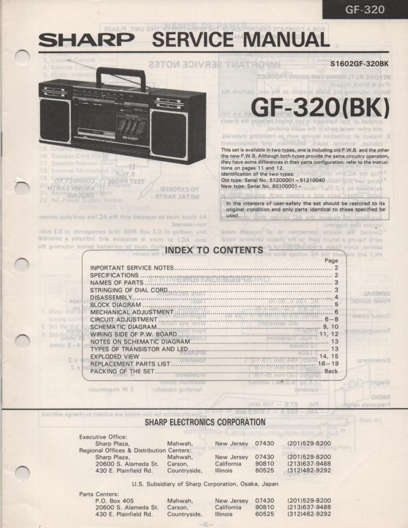 GF-320 Radio Service Manual