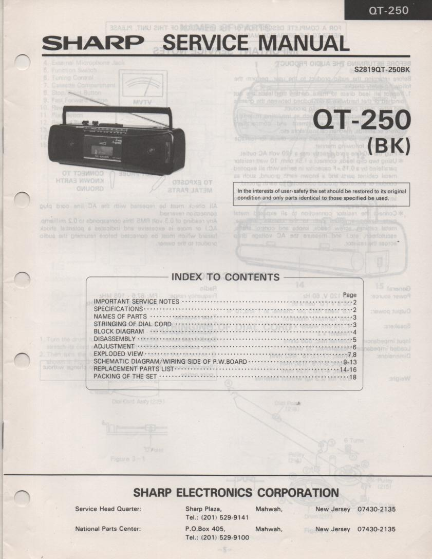 QT-250 Radio Service Manual