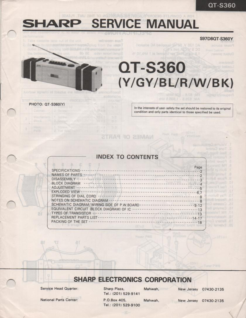 QT-S360 Radio Service Manual
