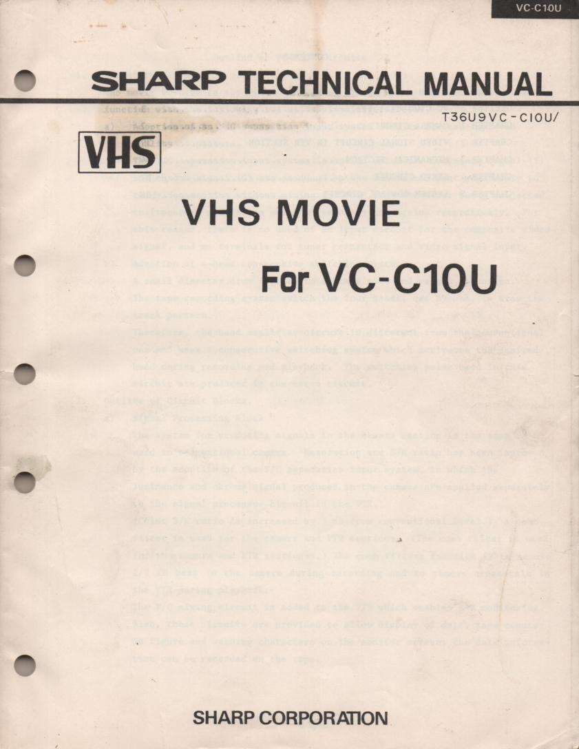 VC-C10 VHS Technical Service Manual