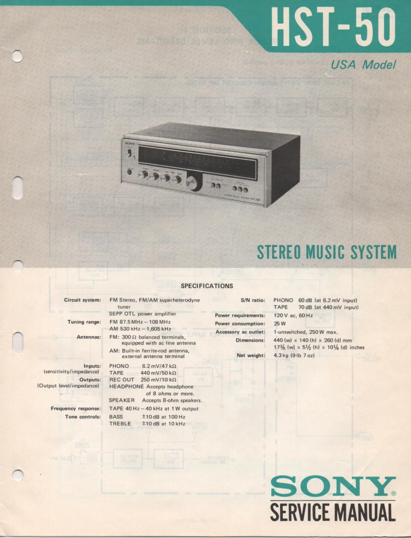 HST-50 Receiver Service Manual