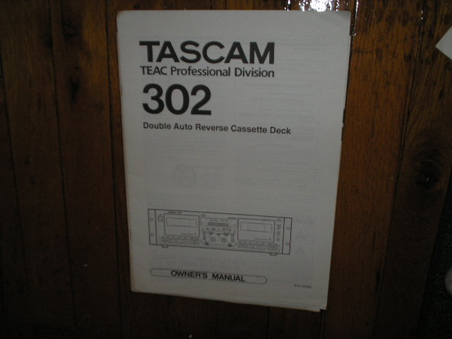 302 Double Cassette Deck Owners Manual
