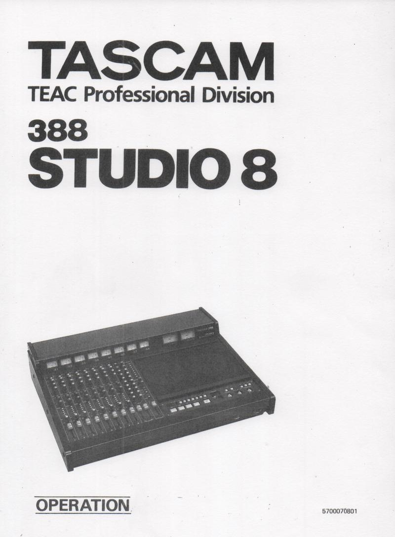 388 Mixer Recorder Owners Manual