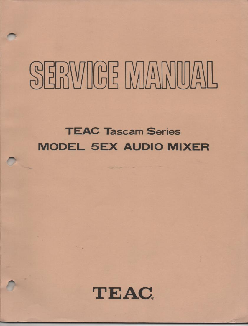 5EX Model 5EX Audio Mixer Service Manual