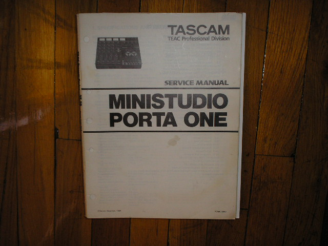 PORTA ONE Ministudio Service Manual