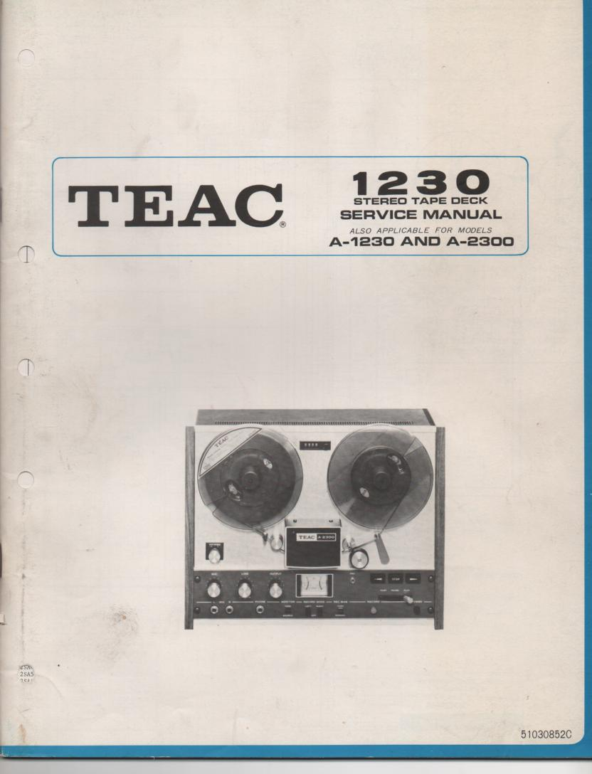 A-2500 A-1250 A-1230 Reel to Reel Service Manual