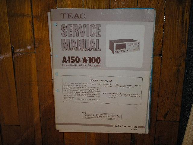 A-100 A-150 Cassette Deck Service Manual