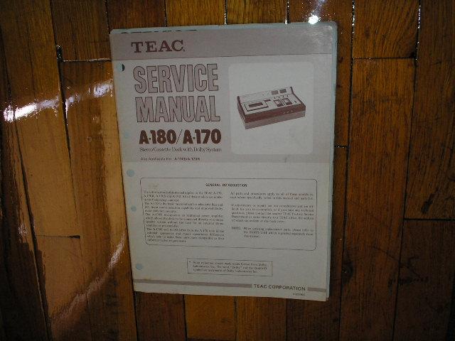 A-170 A-180 Cassette Deck Service Manual