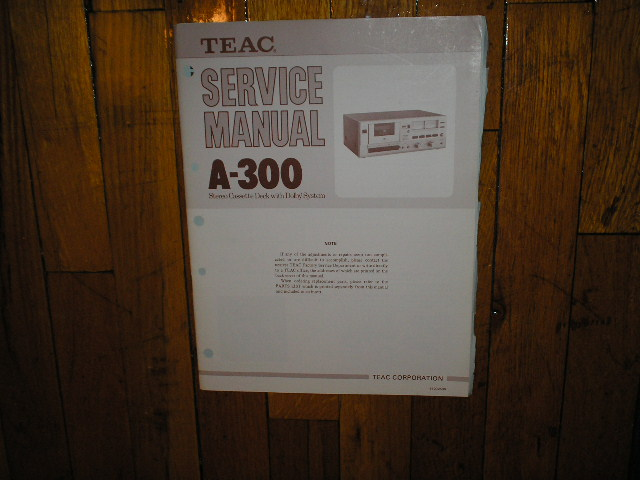 A-300 Cassette Deck Service Manual