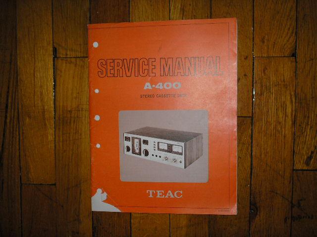 A-400 Cassette Deck Service Manual