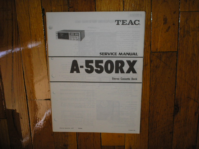 A-550RX Cassette Deck Service Manual