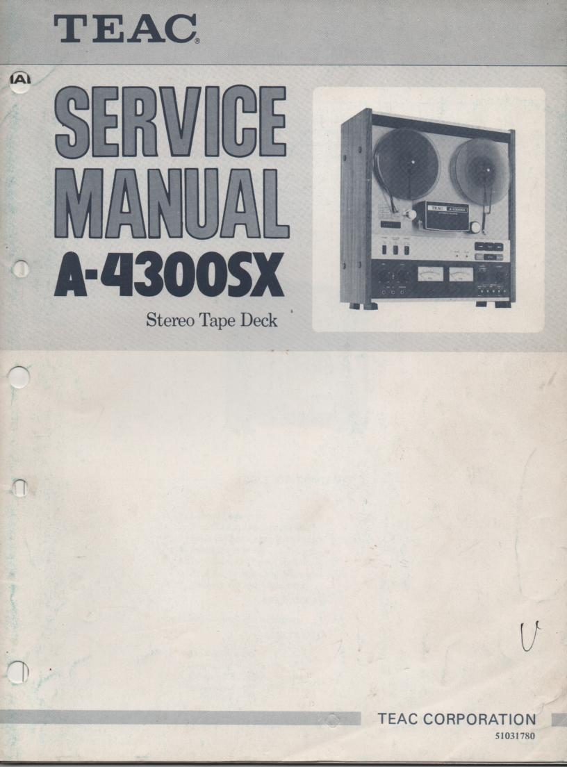 A-4300SX Reel to Reel Service Manual Set