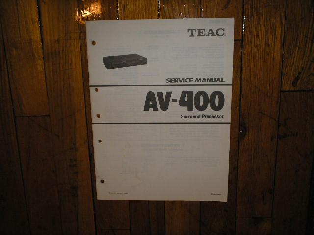 AV-400 A/V Controller Service Manual