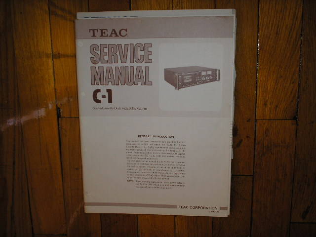 C-1 Cassette Deck Service Manual. 3 Manuals