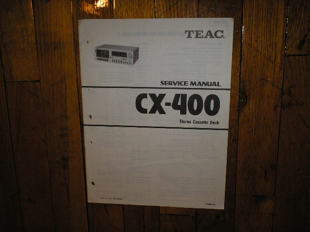 CX-400 Cassette Deck Service Manual
