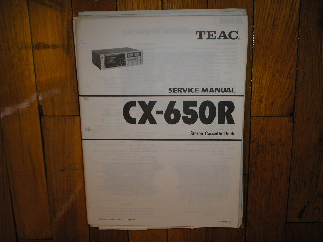 CX-650R Cassette Deck Service Manual