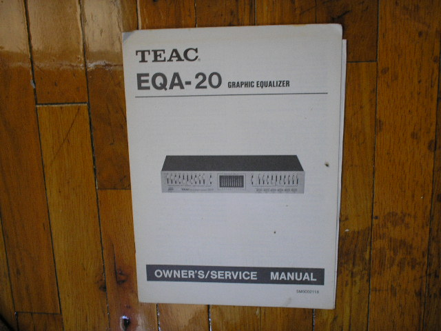 EQA-20 Graphic Equalizer Owners Service Manual