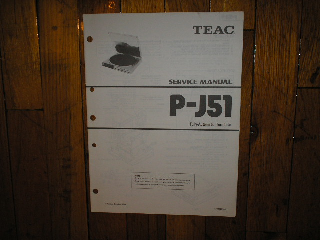 P-J51 Turntable Service Manual