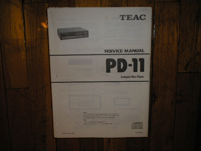 PD-11 CD Player Service Manual
