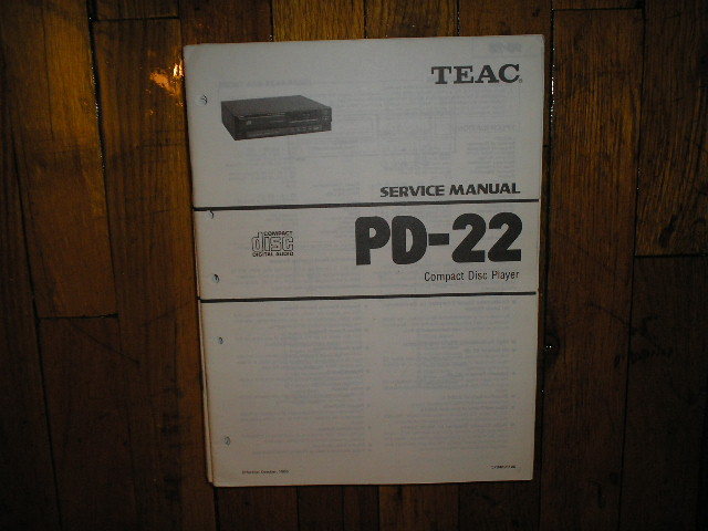 PD-22 CD Player Service Manual