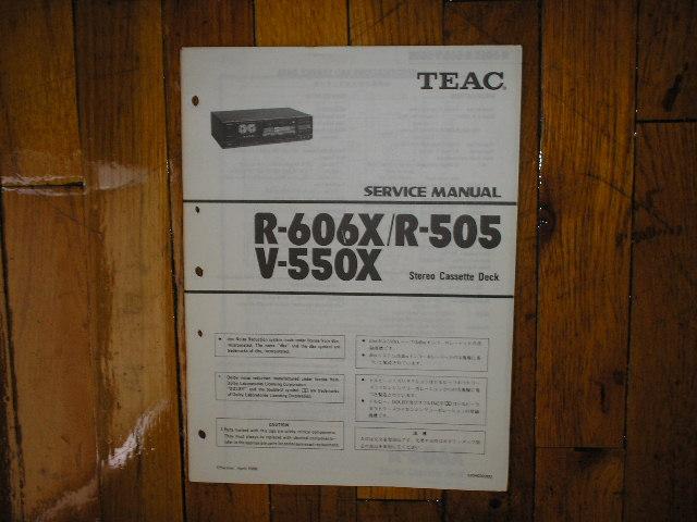 R-505 R-606X V-550X Cassette Deck Service Manual
