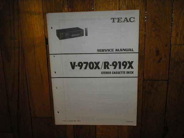 R-919X R-970X Cassette Deck Service Manual