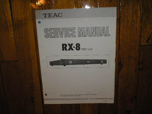 RX-8 DBX Noise Reduction Unit Service Manual