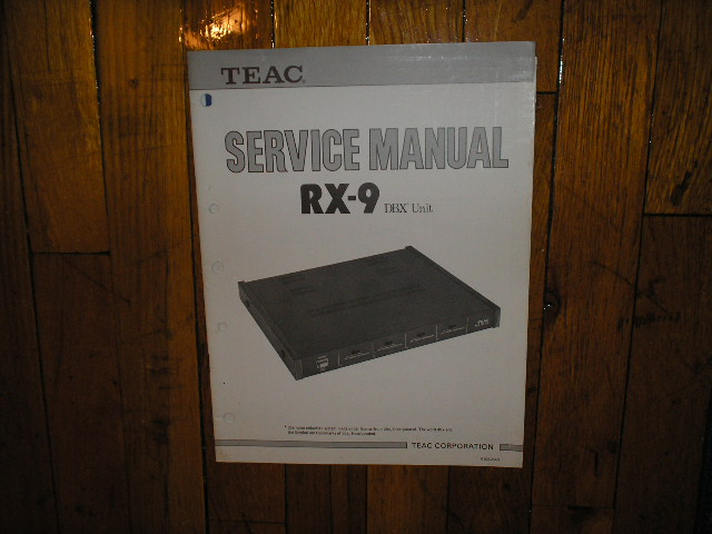 RX-9 DBX Noise Reduction Unit Service Manual