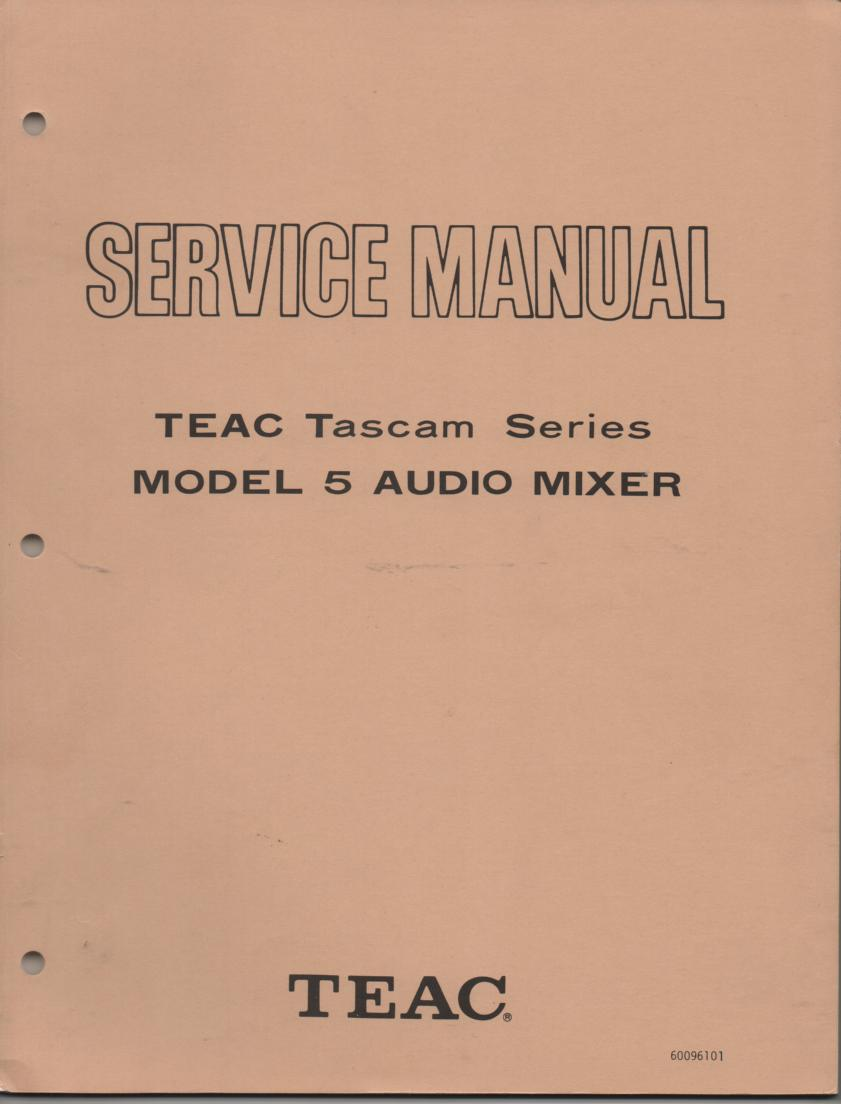 5 Model 5 Audio Mixer Service Manual