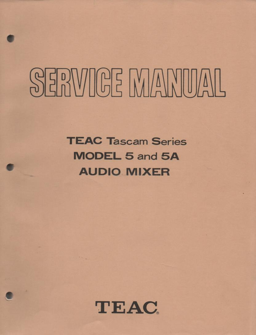 5 5A Model 5 5A Audio Mixer Service Manual