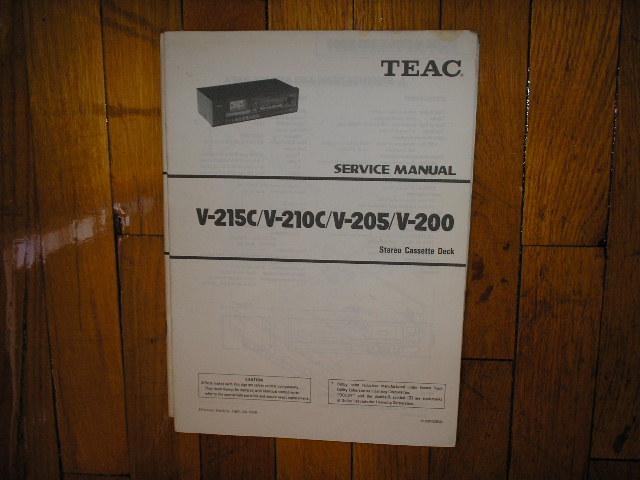 V-200 V-205 V-210C V-215C Cassette Deck Service Manual