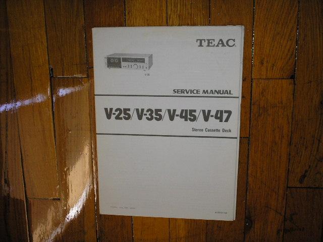 V-25 V-35 V-45 V-47 Cassette Deck Service Manual