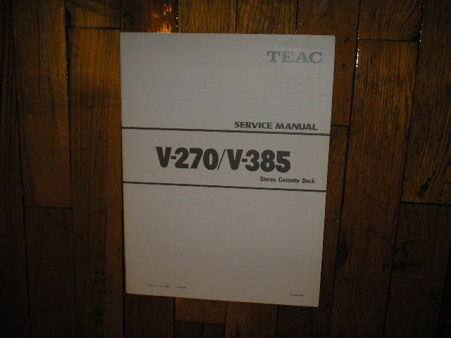 V-270 V-385 Cassette Deck Service Manual