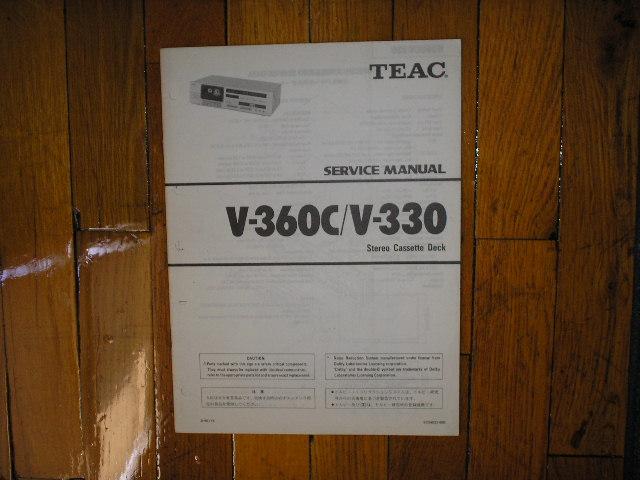 V-330 V-360C Cassette Deck Service Manual
