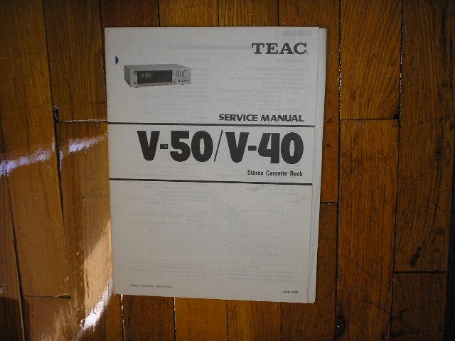 V-40 V-50 Cassette Deck Service Manual