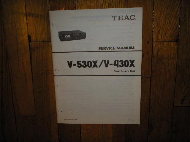 V-430X V-530X Cassette Deck Service Manual