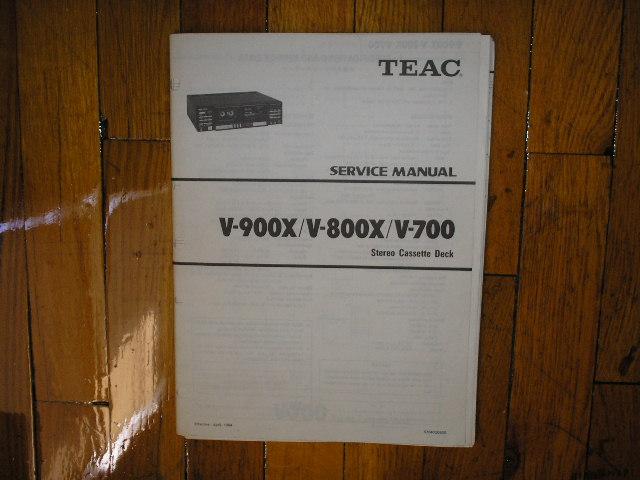 V-700 V-800X V-900X Cassette Deck Service Manual