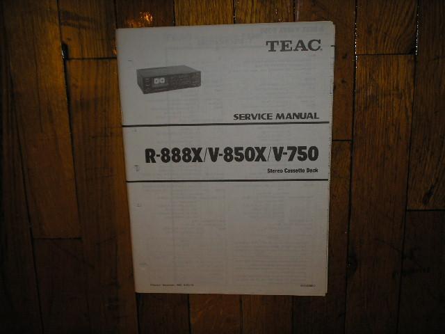 V-750 V-850X R-888X Cassette Deck Service Manual