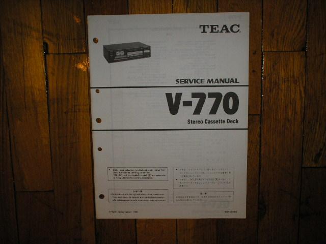 V-770 Cassette Deck Service Manual
