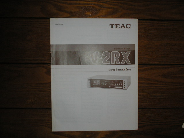 V-2RX Cassette Deck Owners Manual