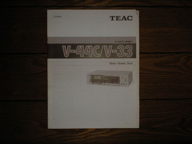 V-33 V-44C Cassette Deck Owners Manual